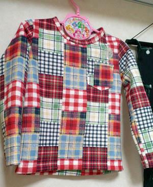 パタレさんのキッズTシャツ(110)布はスローボートさん